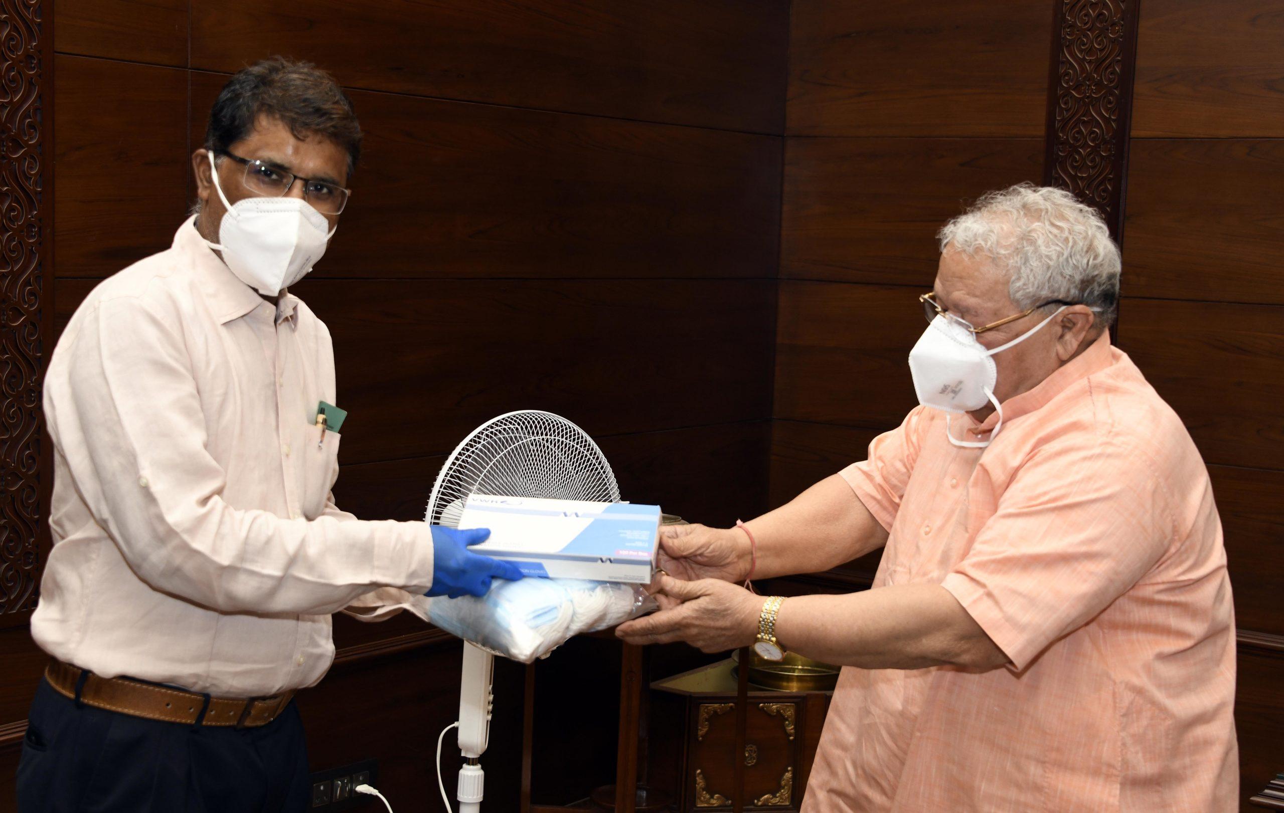 जयपुर के मीडिया प्रतिनिधियों को राज्यपाल ने भेजे हाइजीन किट