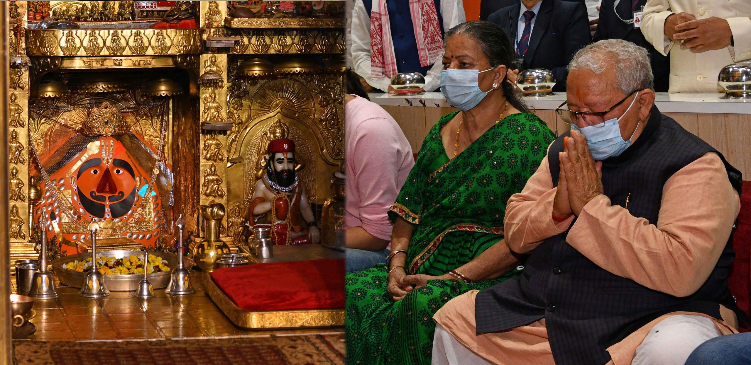 राज्यपाल श्री मिश्र ने सालासर बालाजी मंदिर में दर्शन कर पूजा अर्चना की